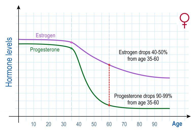 エストロゲン年齢別分泌量