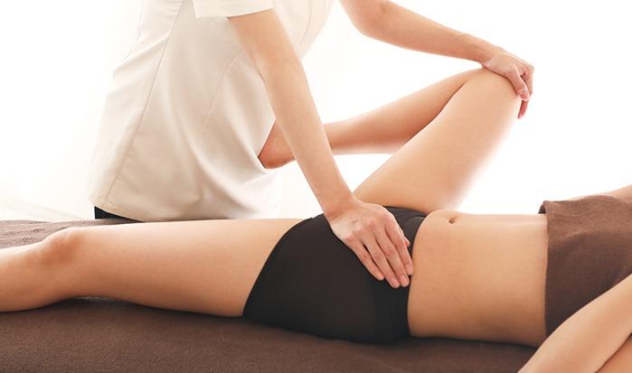 腸腰筋ストレッチスリム 施術風景