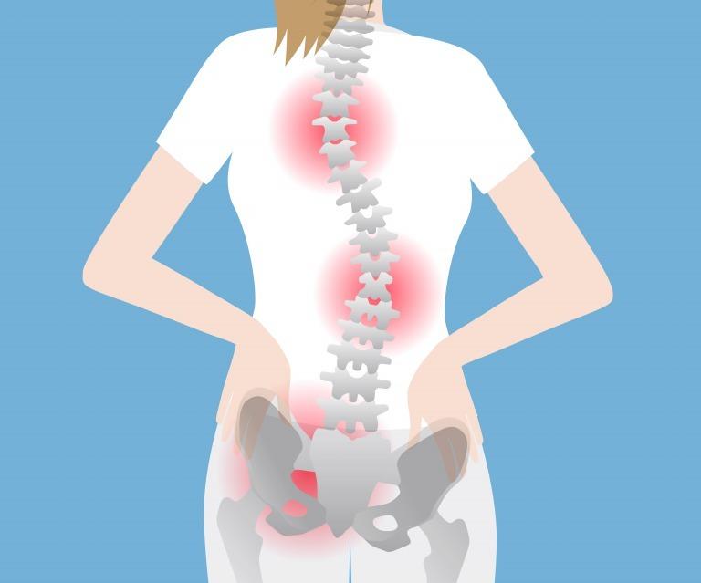 骨盤から背骨のゆがみによる腰痛