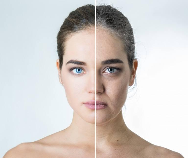 同じ女性による老化イメージ